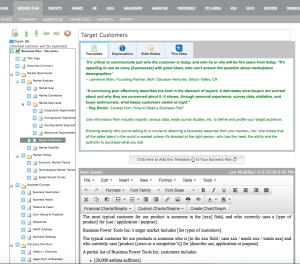 bizplan builder strategy business plan software template