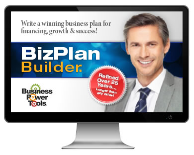 bizplanbuilder business model planning software template free