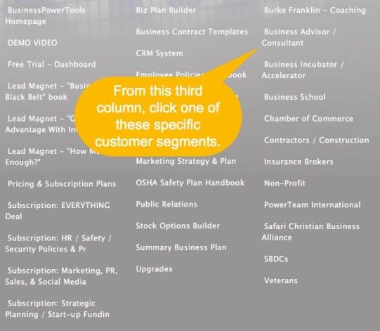 affiliate customer segments