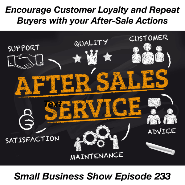 building customer loyalty and repeat buyers