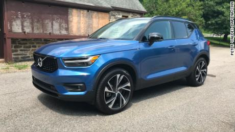 The Volvo XC40 is a tiny but stylish SUV.