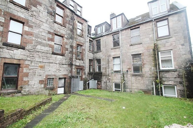 This one-bedroom flat in Greenock, Scotland, has an asking price of £10,500