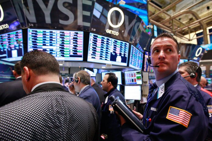 U.S. shares lower at close of trade; Dow Jones Industrial Average down 0.10%