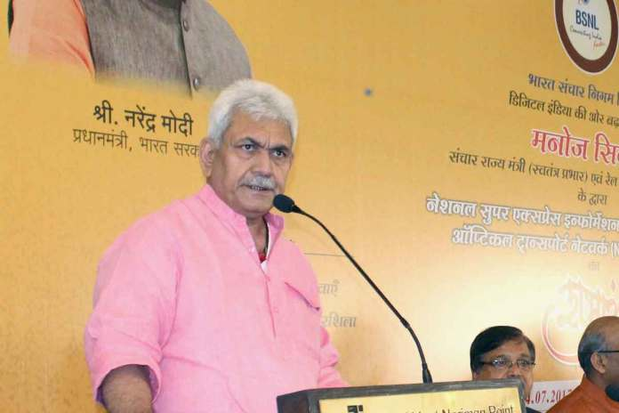 Telecom minister Manoj Sinha: Local manufacturing must for data security