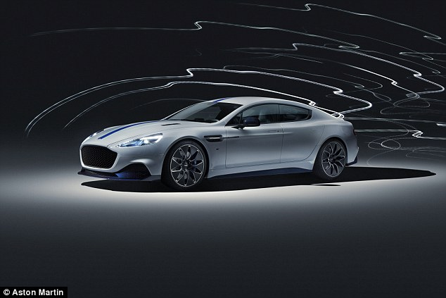 Aston Martin's all-electric Rapide E made its global debut in Shanghai. The car is tipped to appear in the next James Bond film