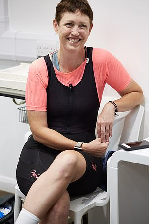 Christine O'Connell was nearing five years in remission for breast cancer when she suffered a seizure while cycling in London last February. She is receiving new medication to treat her brain tumour