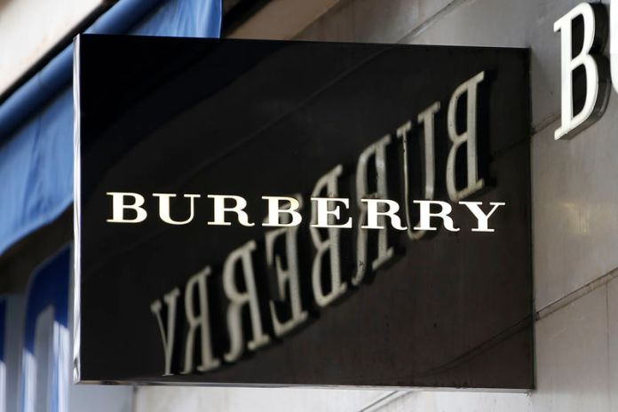 © Reuters. The logo of Burberry outlet store is seen in Paris