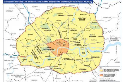 London ULEZ zone map