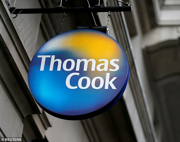 Loss: Thomas Cook sank to a £1.5billion loss in the six months to 31 March
