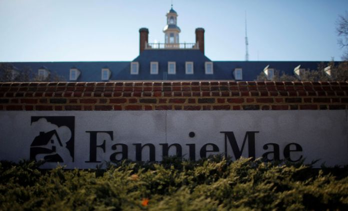 © Reuters. FILE PHOTO: A sign in front of the Fannie Mae headquarters is photographed in Washington