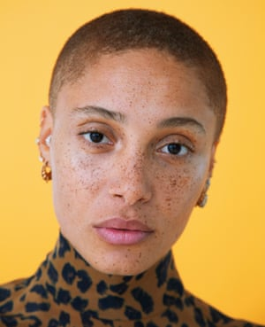 Head shot of model Adwoa Aboah