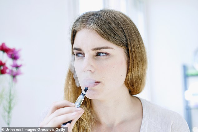DR ELLIE CANNON: No, we shouldn¿t ban vaping (pictured) in public, despite what Britain¿s Chief Medical Officer thinks