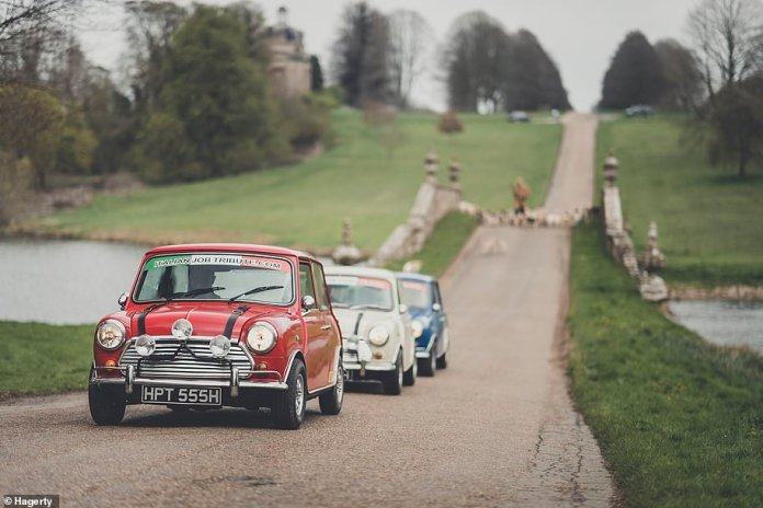 The footage features a Mini rebuilt by the Stowe School. Michael Deeley, producer of The Italian Job, Blade Runner and The Deer Hunter is an ex-Stowe School student