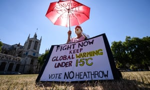 Demonstrators protest against the proposed third runway at Heathrow airport