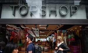 Topshop, part of the Arcadia retail group controlled by Sir Philip Green.