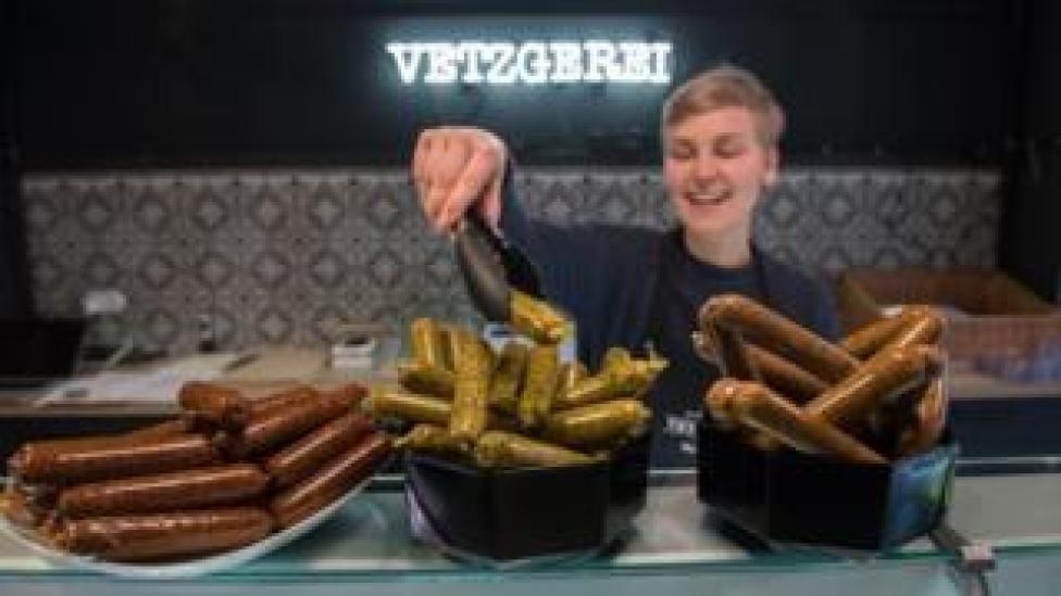 Vegan sausages