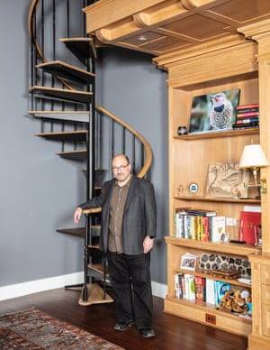 Newmark at his home in Greenwich Village.