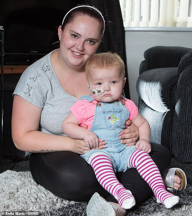 Mother-of-one Ms Wyke, who gave up her telesales executive job to be a full-time carer, was 'overwhelmed' by the amount of people who turned up to be tested to be a stem cell donor