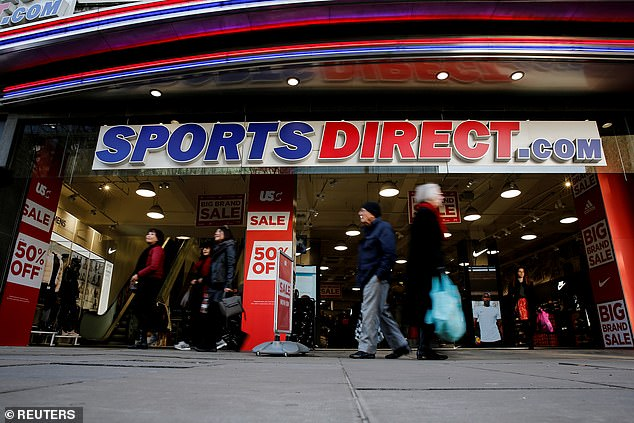 Shares in the Sports Direct business slumped 9.6 per cent, or 25.2p, to close at 238.2p last night – their lowest level this year