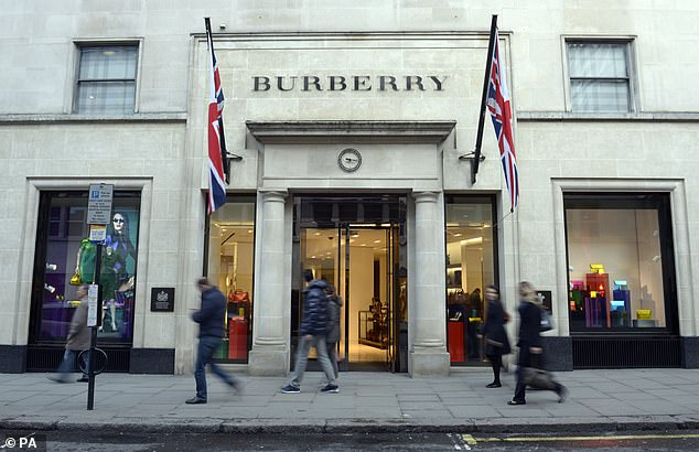 Burberry said tourists have been flocking to its stores in the UK to benefit from the weak pound