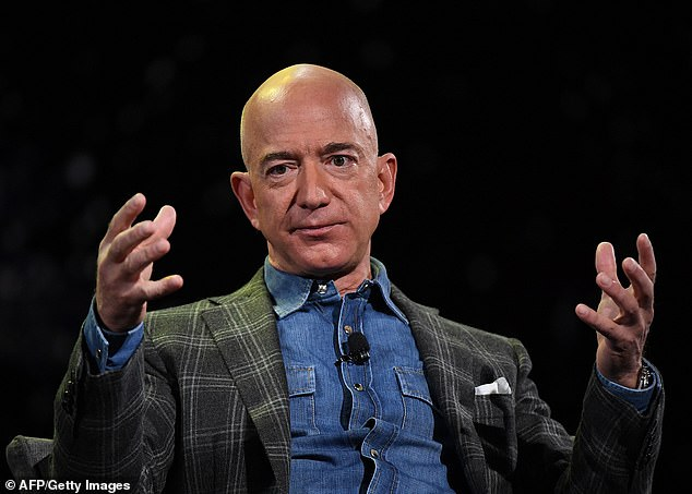 Jeff Bezos (above) founded Amazon in 1994 and has overseen its growth from a book seller