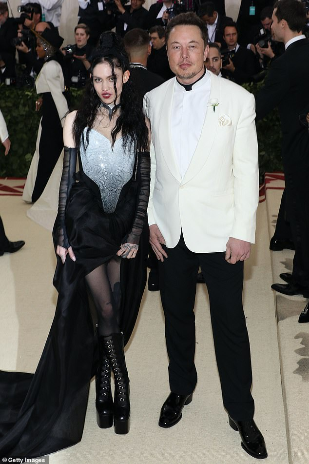 Grimes (pictured with boyfriend Elon Musk at the 2018 Met Gala) revealed the unusual steps she has taken to stay fit and to treat her seasonal depression