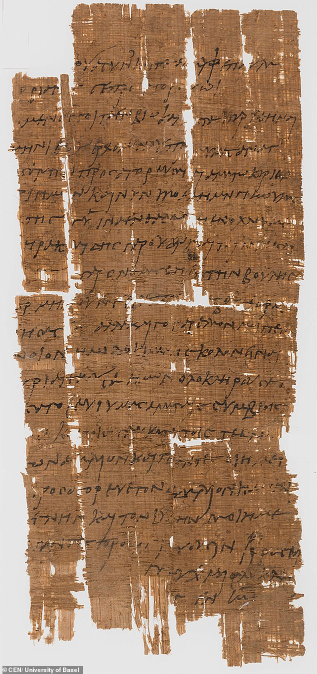 A papyrus letter sent between two brothers is believed to have been penned in 230AD has upended many long-held theories and beliefs about the Roman Empire