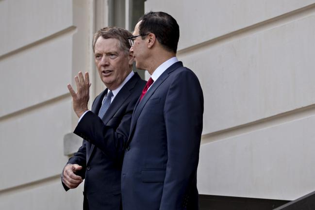 © Bloomberg. Robert Lighthizer and Steven Mnuchin.