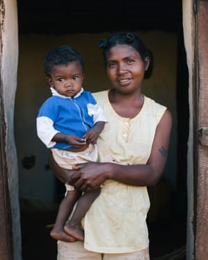 Odile, 35, with her son Philbert.