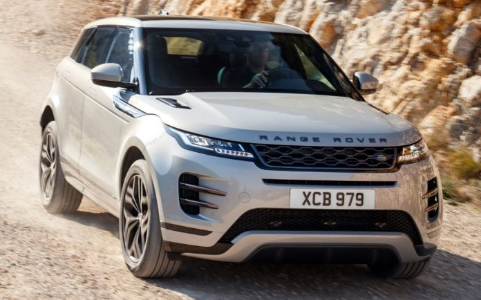 Sunday Times Motor Awards 2019 Best British-Built Car of the Year. Land Rover Range Rover Evoque