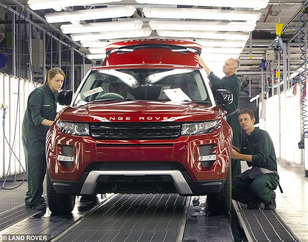 Falling production:The number of cars being manufactured in Britain fell over 10 per cent in July, latest figures from the SMMT show