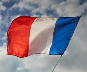 The French Tricolor flag