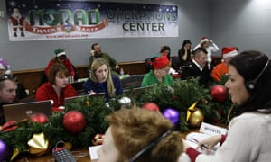 Norad's 'Santa tracking' operation at Peterson Air Force Base in Colorado.
