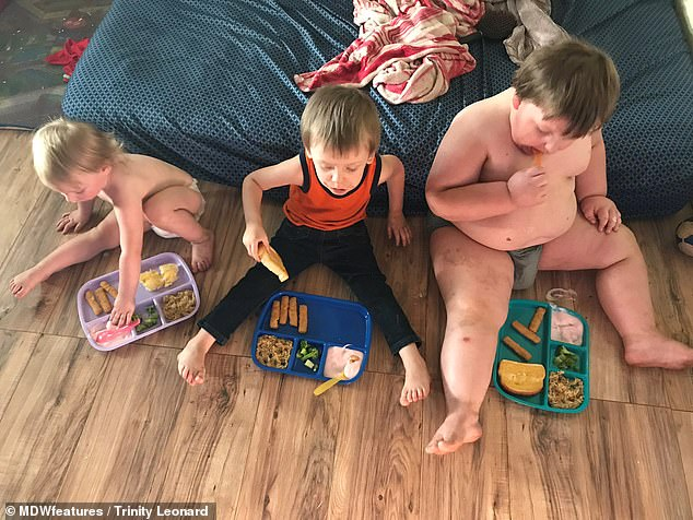 Mrs Leonard said Peter's diet is strictly controlled and the family hide snacks from him but his weight is still spiralling