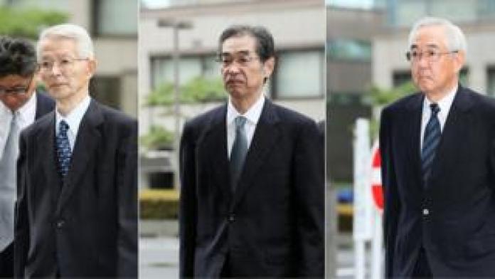 Tsunehisa Katsumata (L), Ichiro Takekuro (C) and Sakae Muto (R)