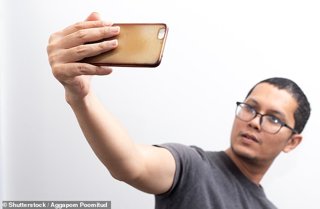 Speaking into a smartphone could reveal whether a person has schizophrenia (stock)