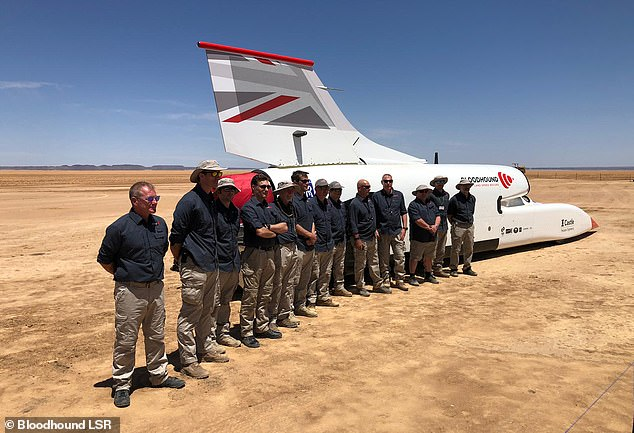 The jet-powered vehicle was flown to Johannesburg and then transported another 570 miles to the desert where tests will take place
