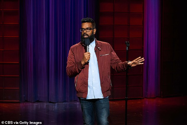 The investigations judged participants' senses of humour — for example, by asking them to write a caption to go with a cartoon. Pictured, British comedianRomesh Ranganathan