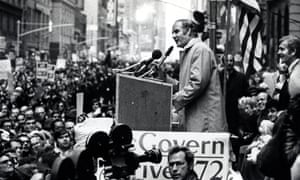 George McGovern speaks in New York in 1972.
