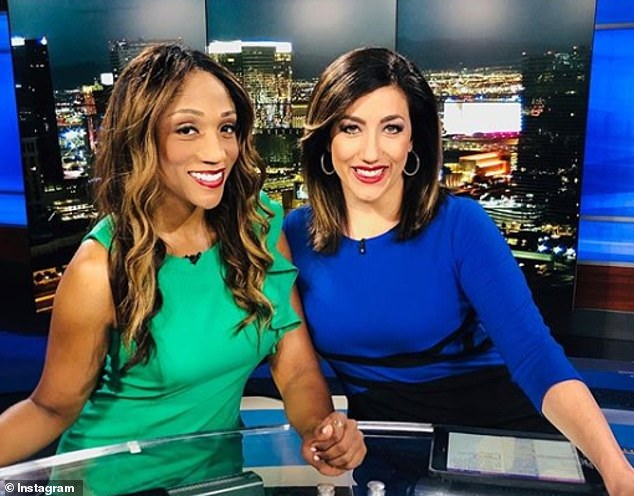Las Vegas news anchor Michelle Velez (right, pictured with her co-host Krystal Allen, left) thought she was pregnant in August. But the fertilization had gone awry and the 38-year-old developed a rare form of cancer from what's known as a molar pregnancy