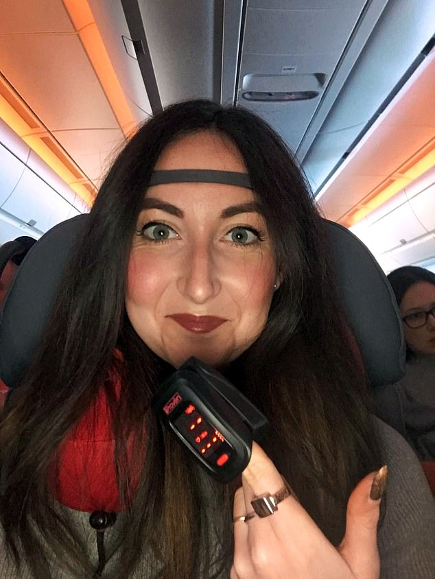 Eve was wearing technology that would measure her vital signs while on the epic flight
