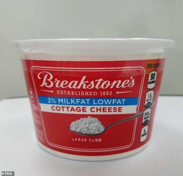 Although no injuries have been reported, the company also voluntarily recalled the smaller 16oz container of its 2% fat large curd cheese