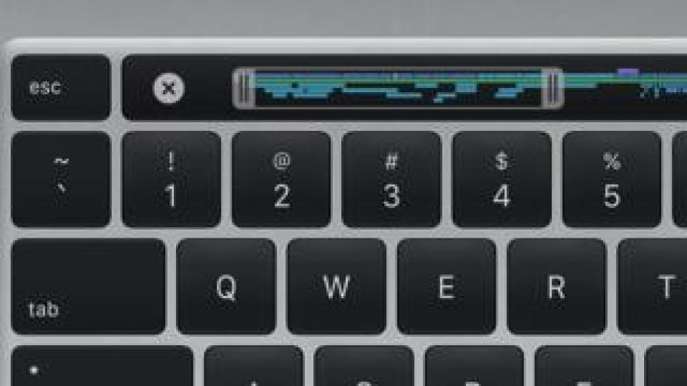 The keyboard on the new MacBook Pro