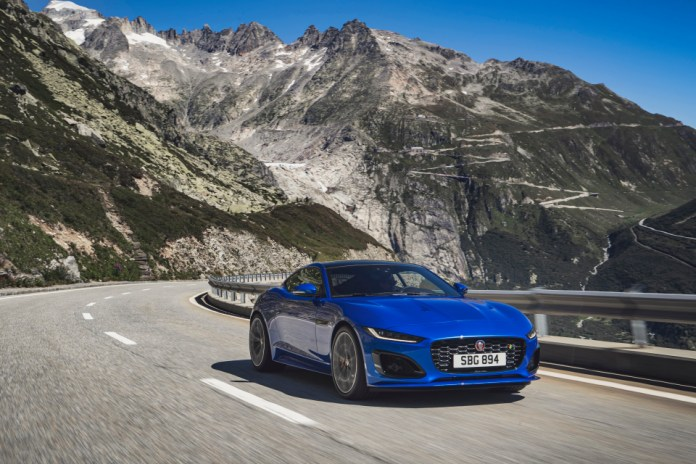 The super-slim headlamps and wider grille are the latest changes made to the F-Type