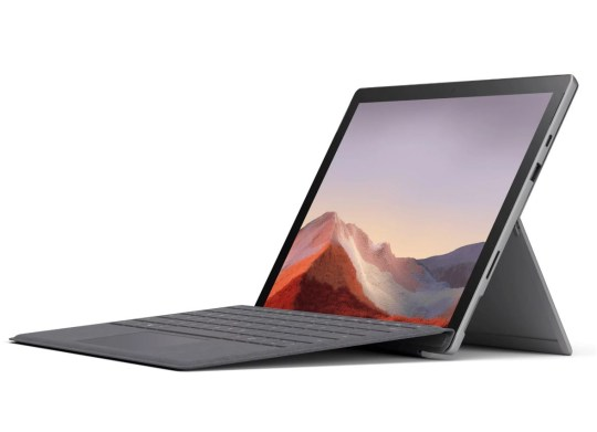 The Pro 7 comes in either a Platinum or Matte Black finish (Microsoft)