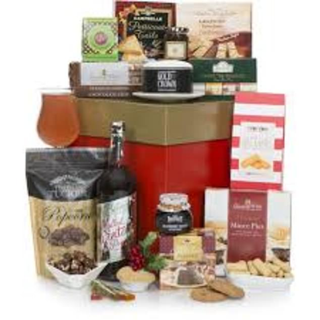 Those looking for an alcohol-free hamper can opt for this £55 from  hamper.com