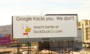 One of DuckDuckGo's billboard ads targeting Google.
