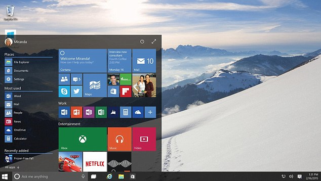 Microsoft introduced a smart assistant, similar to Siri, called Cortana to Windows 10