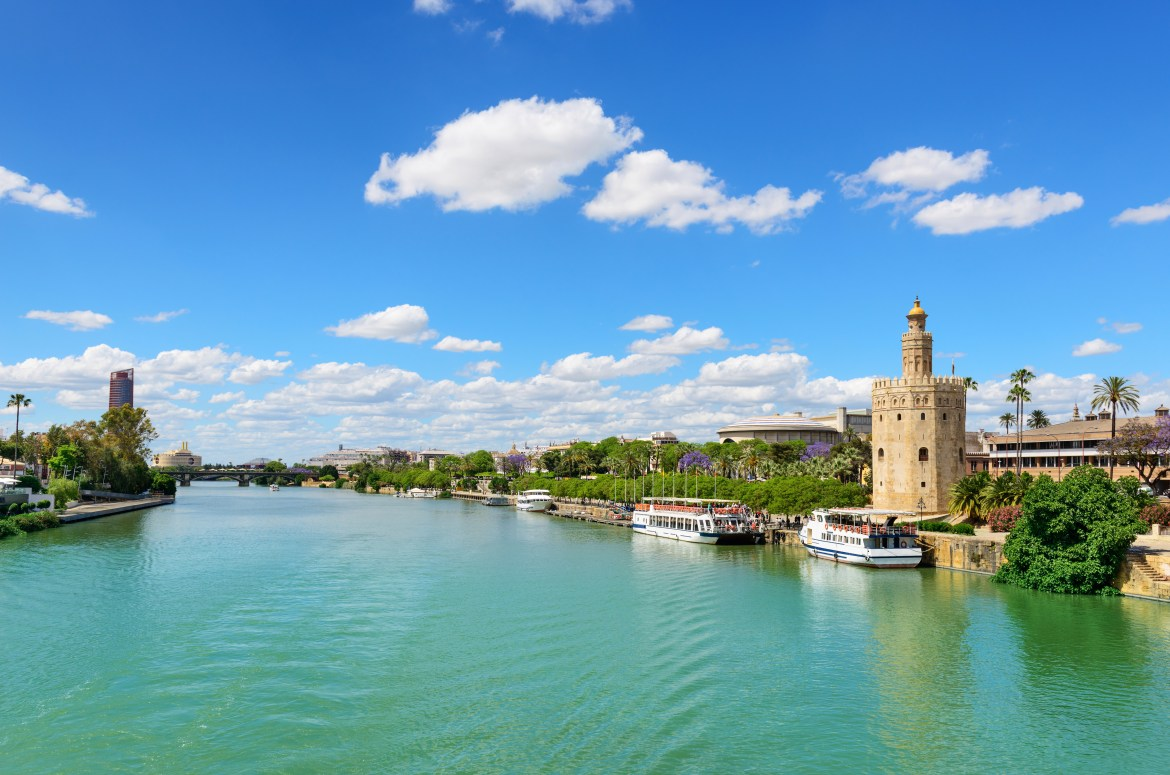 Guadalquivir River and the Golden Tower of Seville