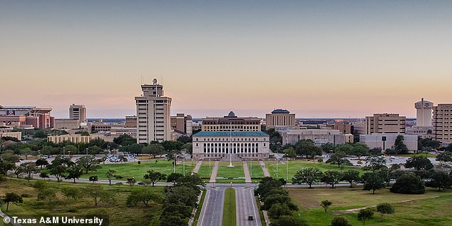 One person being tested is a male student at Texas A&M University (pictured), who traveled to Wuhan, where the virus originated